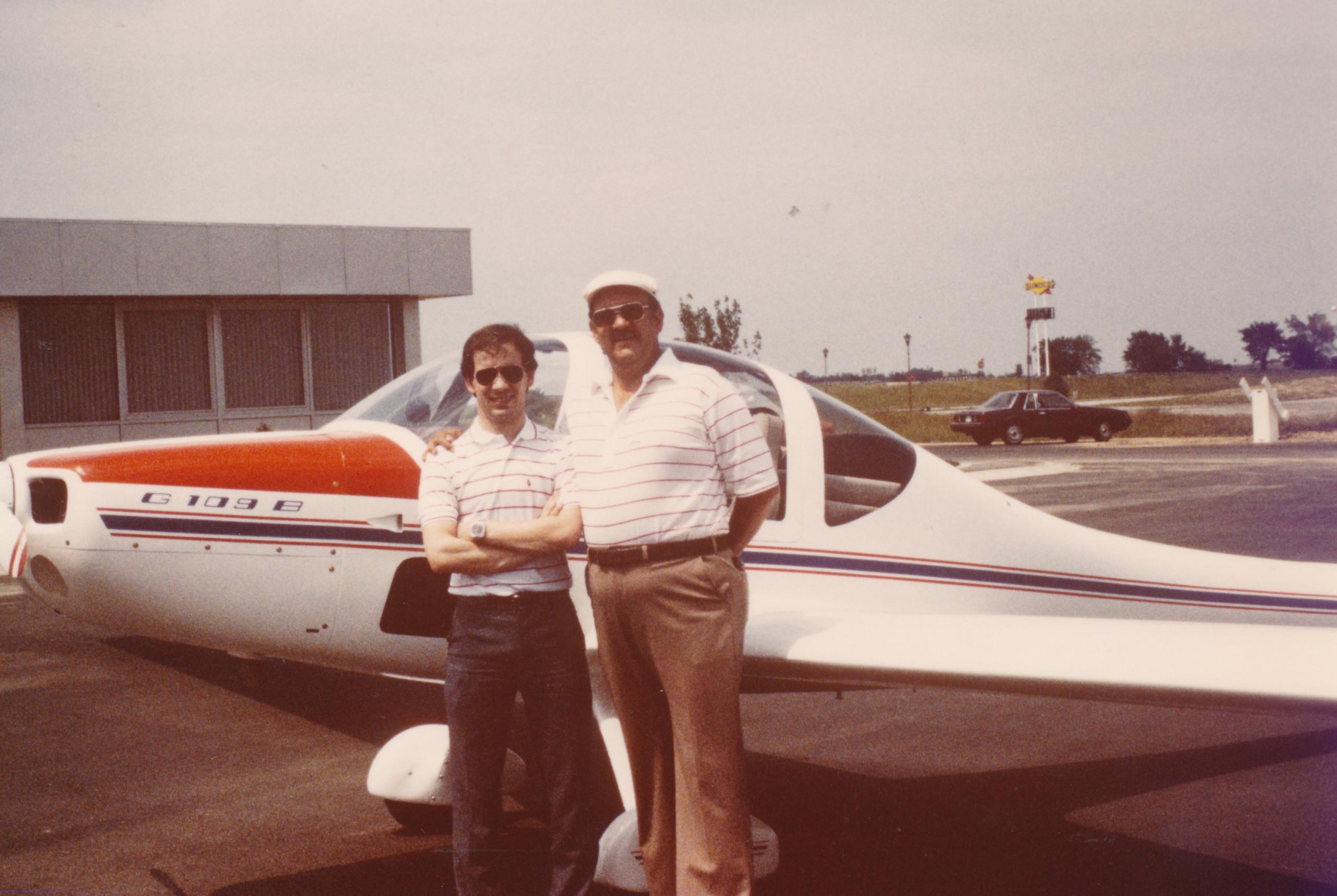 Photo with Dad by his Grob 109B