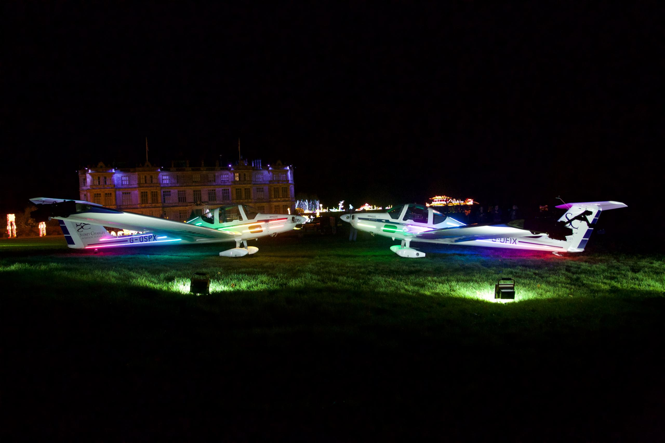 This is Longleat house in Wiltshire, They had a festival of light party and we were involved in the opening of it.   IMG-0090.jpg