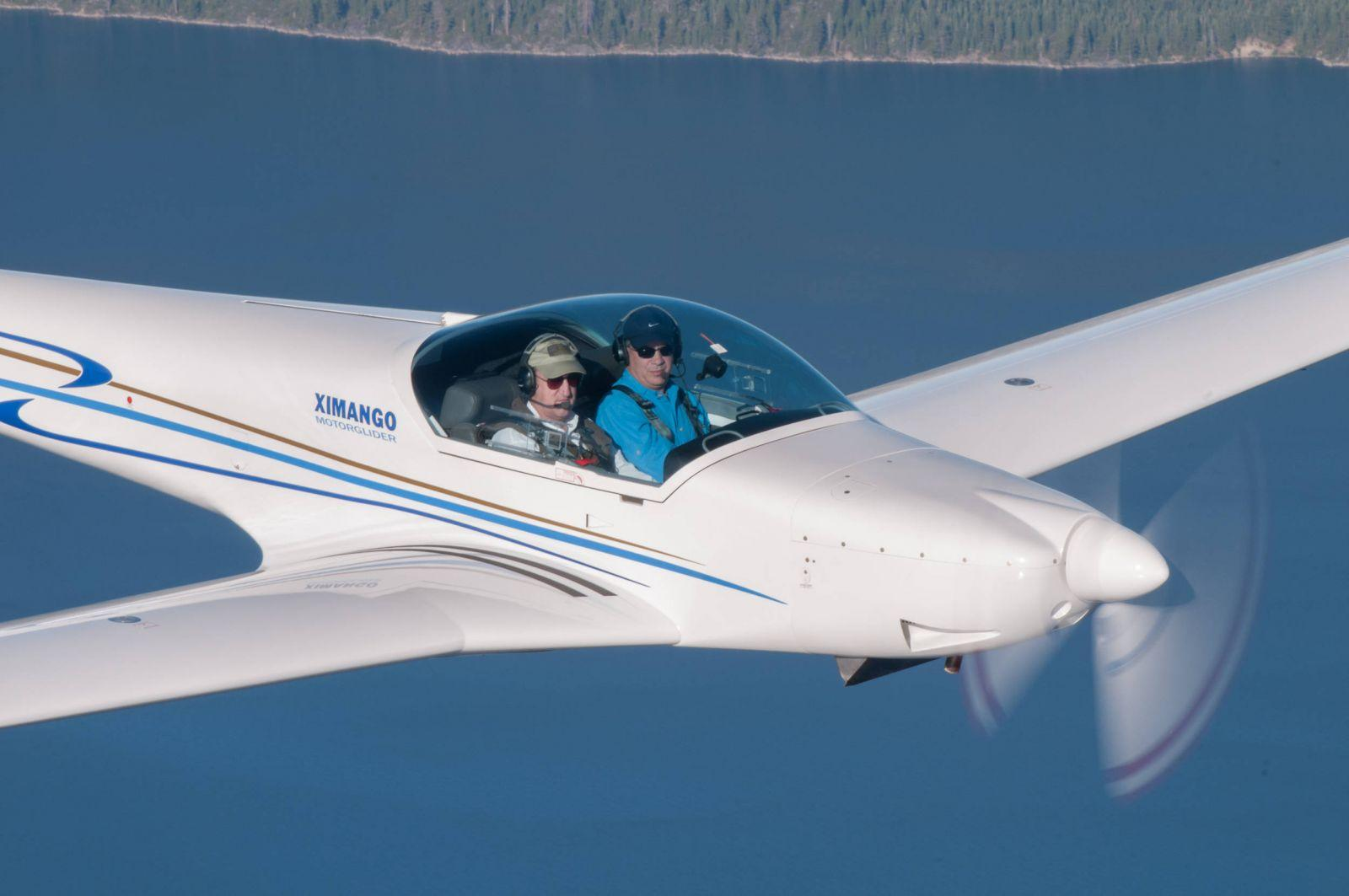 Ximango N175XS in Flight over Lake Tahoe