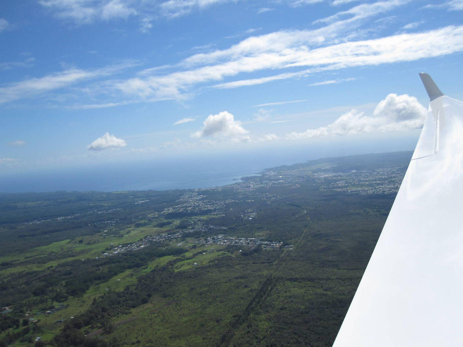View of Hilo Town and the coastline Hawaii Island