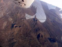 Flying over the active vulcano of La Reunion - October 2010