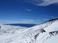 View from over Mauna Kea toward Mauna Loa