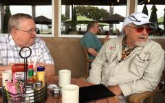 Michael and Rich at breakfast, Camarillo,CA
