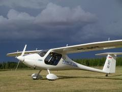 Pipistrel Sinus before storm